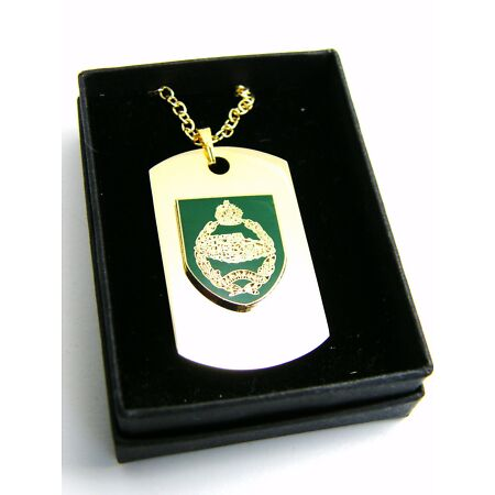 img-THE ROYAL TANK REGIMENT BADGE DOG TAG PENDANT MILITARY GIFT IN BOX