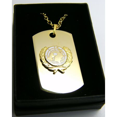 img-THE UNITED NATIONS UN WHITE BADGE DOG TAG PENDANT MILITARY GIFT IN BOX
