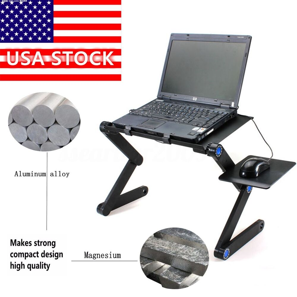 360 adjustable foldable laptop notebook pc desk table stand portable bed tray ebay. Black Bedroom Furniture Sets. Home Design Ideas