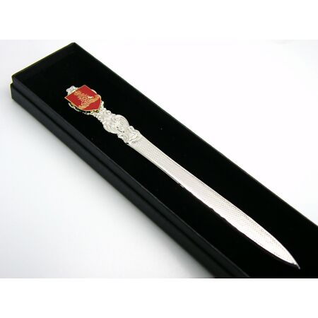 img-THE ROYAL ARTILLERY BADGE LETTER OPENER MILITARY GIFT IN BOX