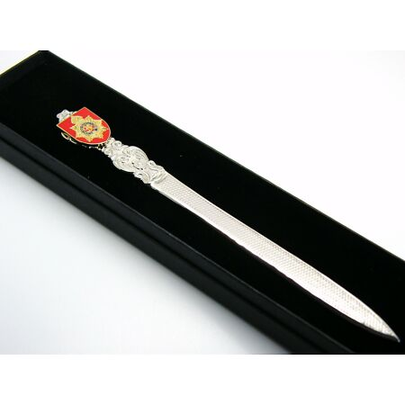 img-THE ROYAL ARMY SERVICE CORPS BADGE LETTER OPENER MILITARY GIFT IN BOX