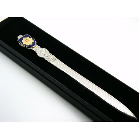 img-THE ROYAL SCOTS BADGE LETTER OPENER MILITARY GIFT IN BOX
