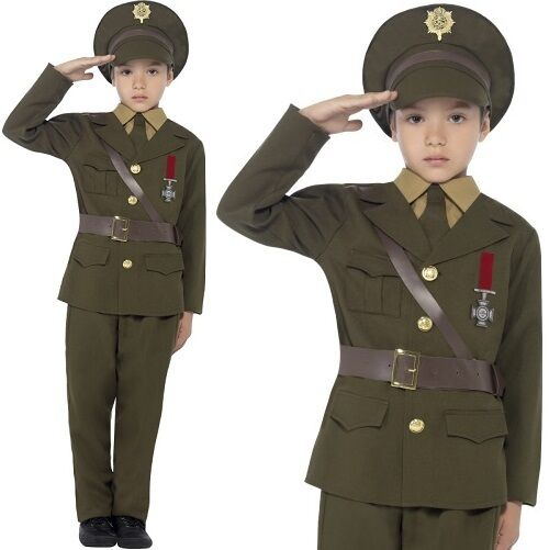 kinder armee offizier kost m jungen ww2 armee kost m uniform neues von smiffys ebay. Black Bedroom Furniture Sets. Home Design Ideas