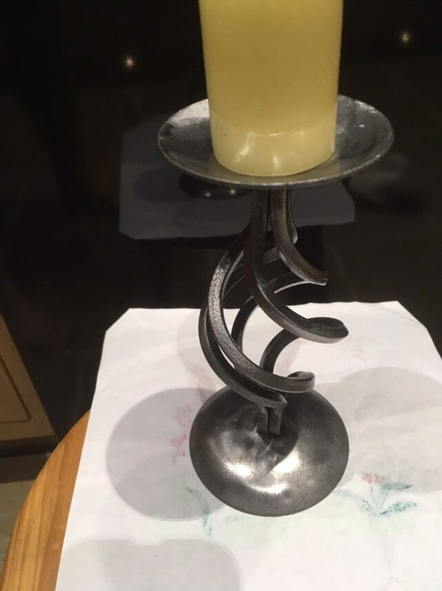 Handmade Candle Stand Designs : Wrought iron candle holder handmade