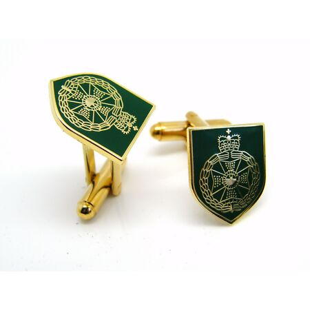 img-THE ROYAL GREEN JACKETS BADGE CUFFLINKS MILITARY GIFT IN BOX