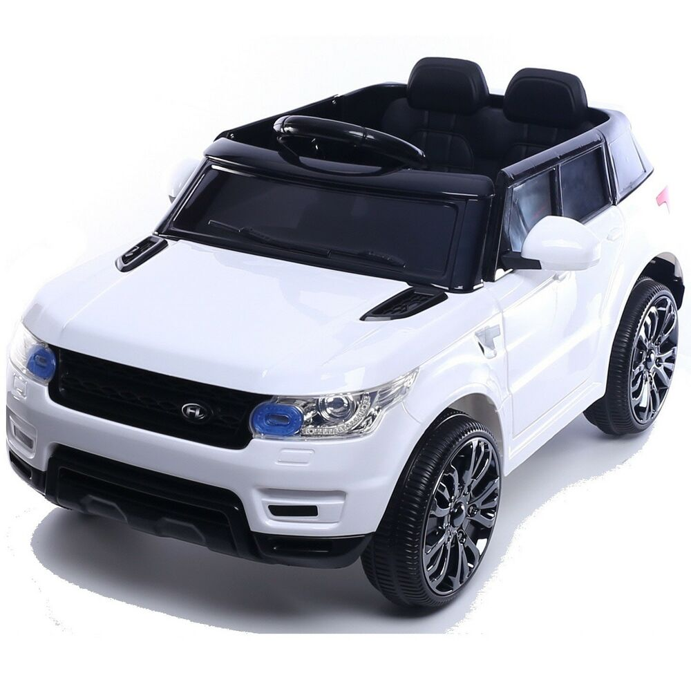 mini hse range rover style electric 12v child s ride on jeep white ebay. Black Bedroom Furniture Sets. Home Design Ideas