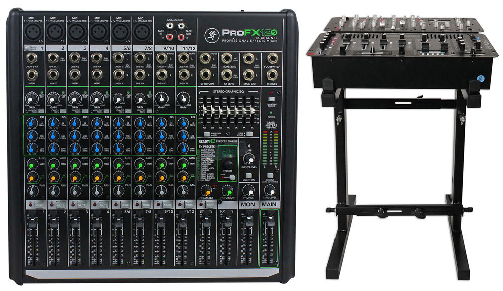 mackie profx12v2 pro 12 channel compact mixer w effects and usb profx12 v2 stand ebay. Black Bedroom Furniture Sets. Home Design Ideas