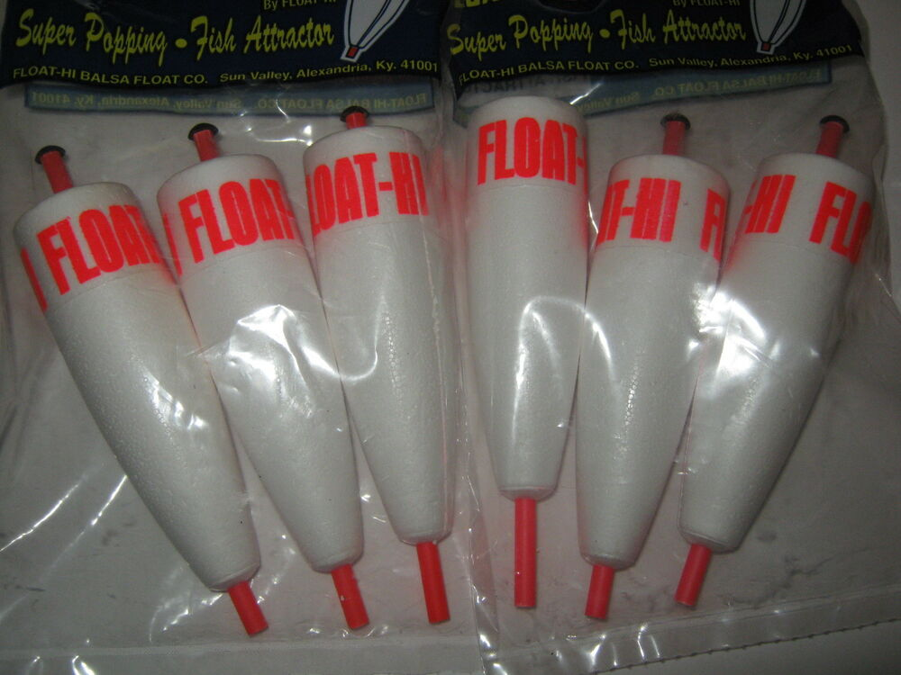 6 quality 4 in foam popping corks adjustable float for Ice fishing bobbers