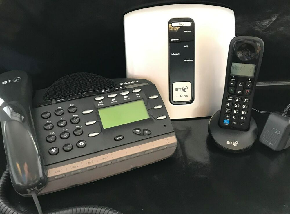 bt micro home office phone system package 1 lines 4. Black Bedroom Furniture Sets. Home Design Ideas