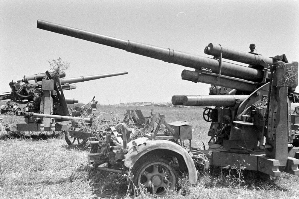 German 50 Mm Anti Tank Gun: WW2 Photo WWII Captured Axis 88mm Anti-Tank Guns Tunisia