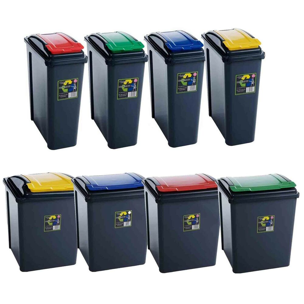 25l 50l Plastic Recycle Recycling Bin Lid Kitchen Rubbish