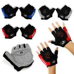 Kyпить Sports Racing Cycling Motorcycle MTB Bike Bicycle Gel Half Finger Gloves M/L/XL на еВаy.соm