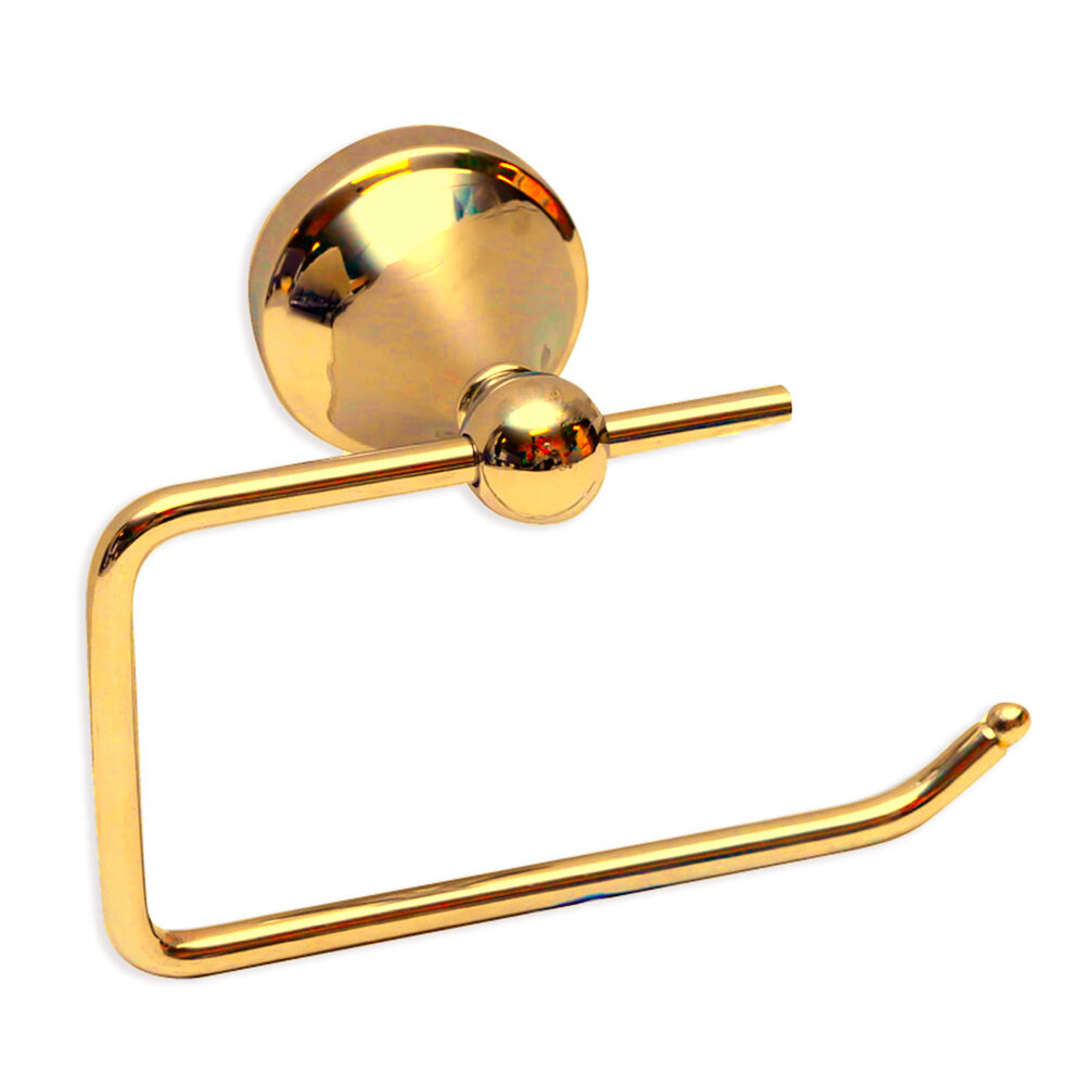 New Pure 24k Gold Toilet Roll Holder Rosa By Enzo Barelli