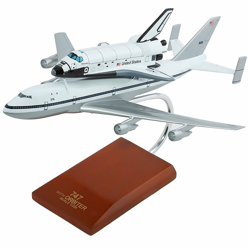 Nasa boeing 747 space shuttle discovery desk display model 1 200 es airplane ebay - Desks small space model ...