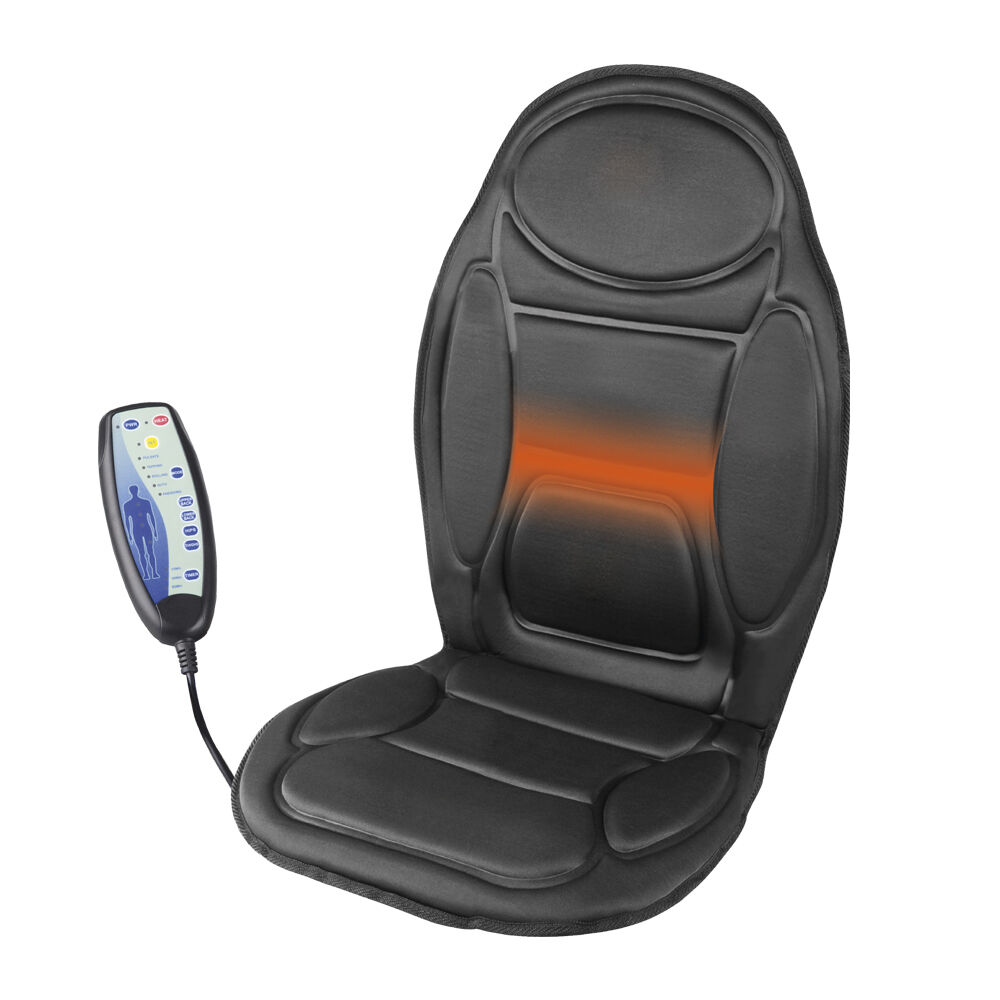 Heated Massage Chair Back Cushion Relaxing Seat Massager For Car Home Offic