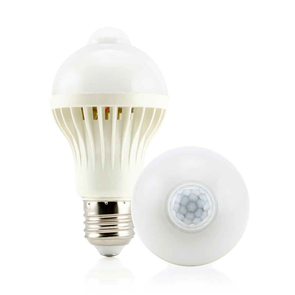 E27 5w Motion Sensor Led Bulb Auto Pir Motion Detection
