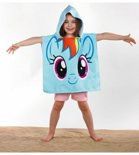 m dchen mein kleines pony regenbogen einhorn kapuzen poncho strand handtuch ebay. Black Bedroom Furniture Sets. Home Design Ideas
