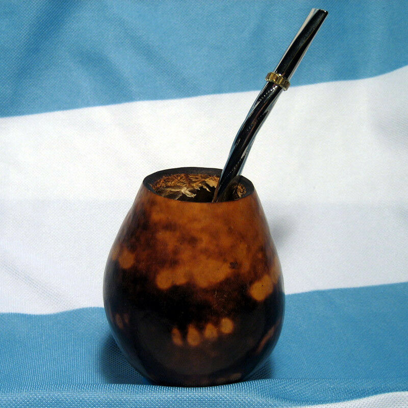 ARGENTINA MATE GOURD YERBA TEA CUP WITH STRAW BOMBILLA ...  ARGENTINA MATE ...