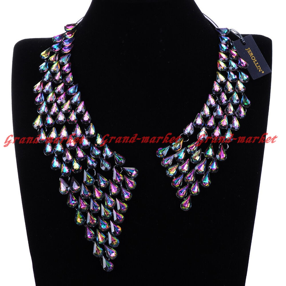 Fashion Jewelry Chain Multi-Color Acrylic Crystal ...