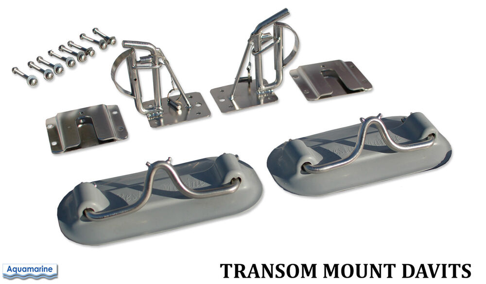 Transom Mount Davits For Inflatable Boat Dinghy Transom