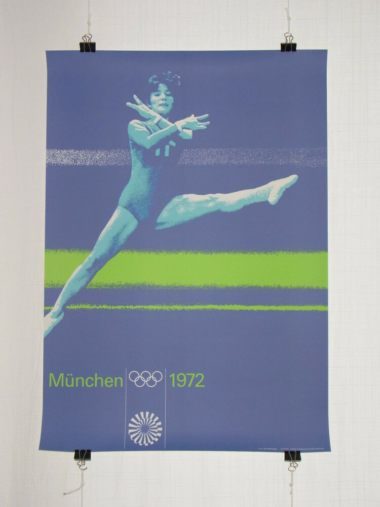 poster plakat turnen dina1 olympische spiele 1972. Black Bedroom Furniture Sets. Home Design Ideas