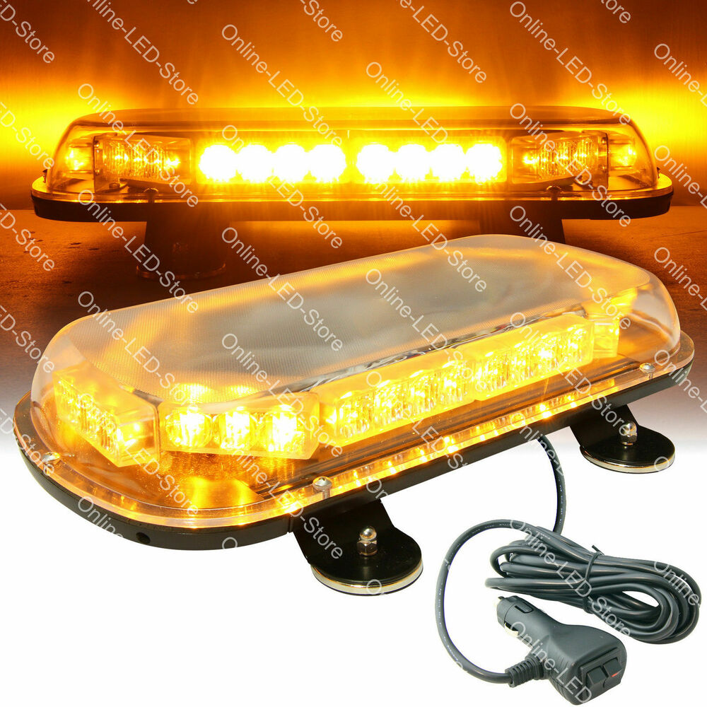 34w led emergency vehicle tow towing truck strobe warning mini light bar amber 816159023391 ebay. Black Bedroom Furniture Sets. Home Design Ideas