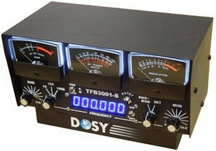 Cb Frequency Counter : Dosy tfb s meter in line wattmeter with black