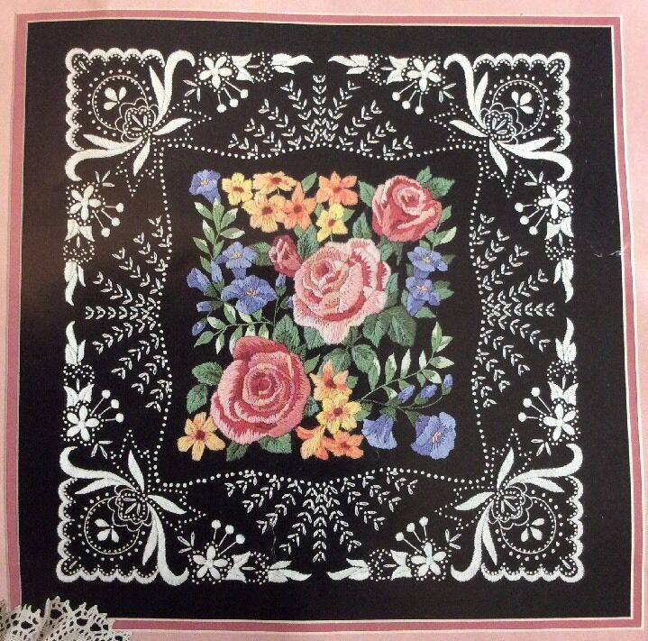 Blossoms and lace dimensions crewel embroidery kit karen