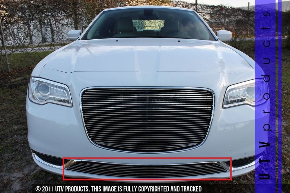 Gtg 2015 2017 chrysler 300 and 300c 1pc polished overlay bumper billet grille ebay - Grille indiciaire 2015 categorie c ...