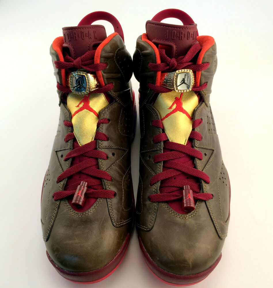 dbe3279c39d1 Details about Nike Air Jordan 6 VI Championship Cigar Raw Umber Red Gold  384664-250 Size 10.5