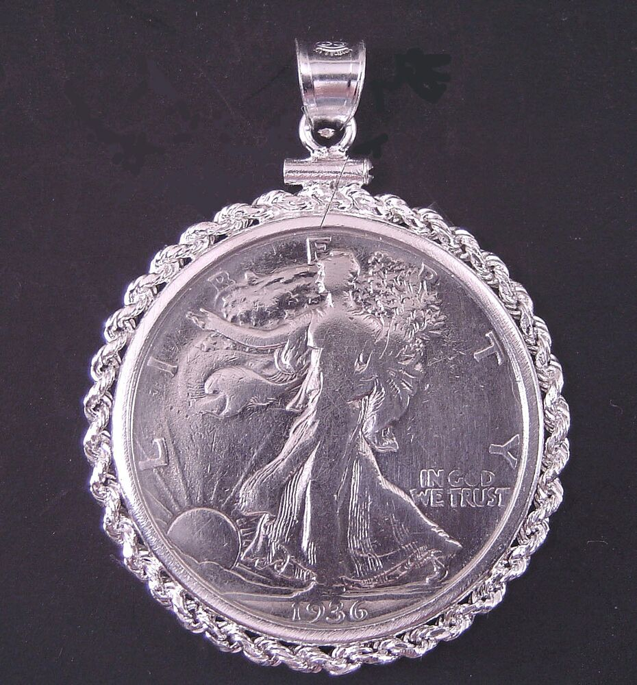 Coin Jewelry Vintage Walking Liberty Half Dollar Sterling