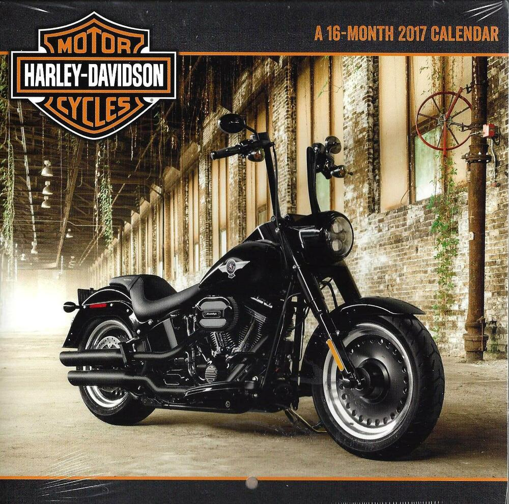 harley davidson motor cycles 2017 mini calendar by. Black Bedroom Furniture Sets. Home Design Ideas