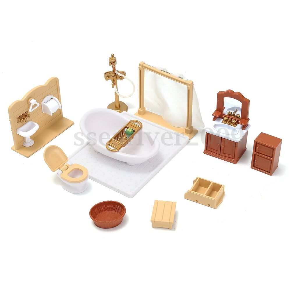 1/12 Scale Dollhouse Miniature Bathroom Furniture Set