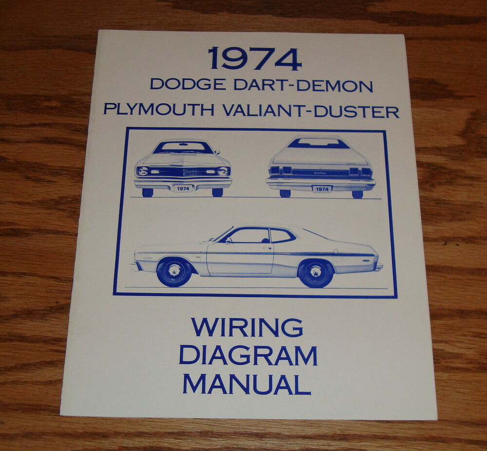 1974 dodge dart plymouth valiant duster wiring diagram manual 74 ebay