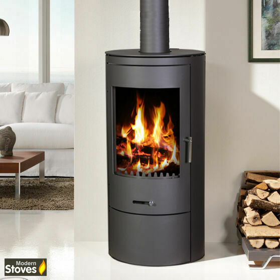 wood burning stove multi fuel stove orion 10kw circular. Black Bedroom Furniture Sets. Home Design Ideas