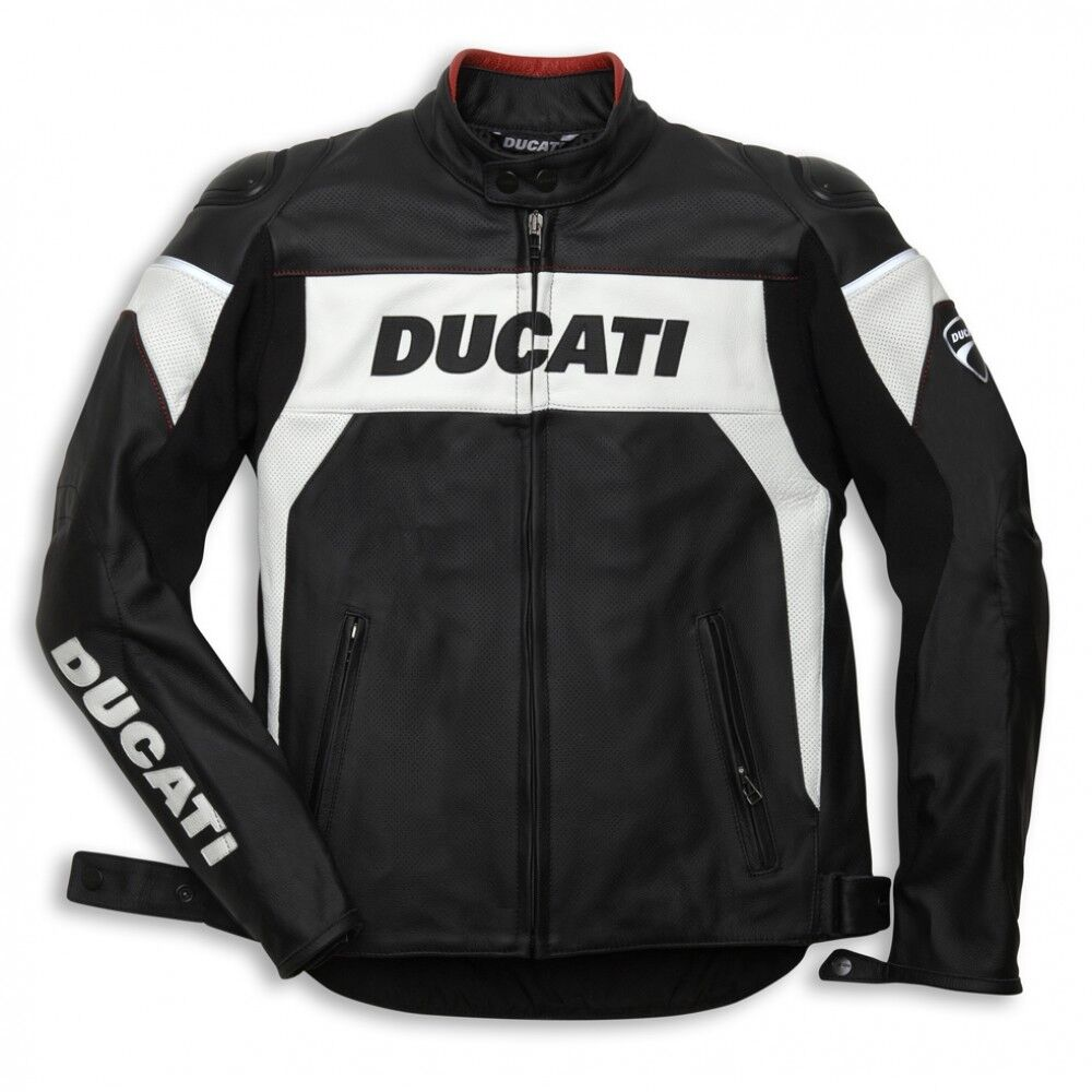Alpinestars Jacket Leather >> Ducati Hi-Tech Jacket Perforated Leather Motorbike Motorcycle Mens Jacket SALE | eBay