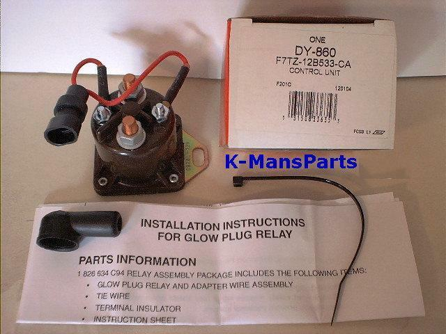 Motorcraft Glow Plug Relay 7 3 Ford Power Stroke Di Turbo Diesel 1994
