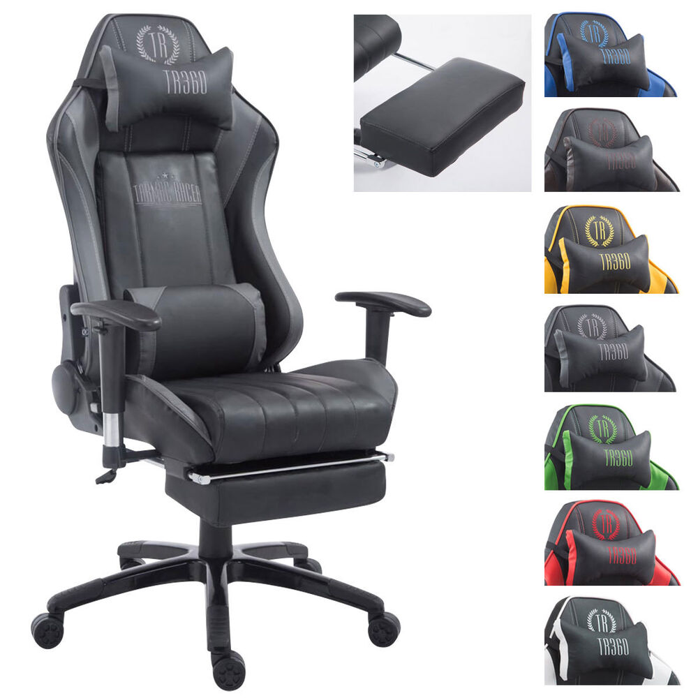 racing b rostuhl shift mit ohne fu st tze gaming schreibtischstuhl kunstleder ebay. Black Bedroom Furniture Sets. Home Design Ideas