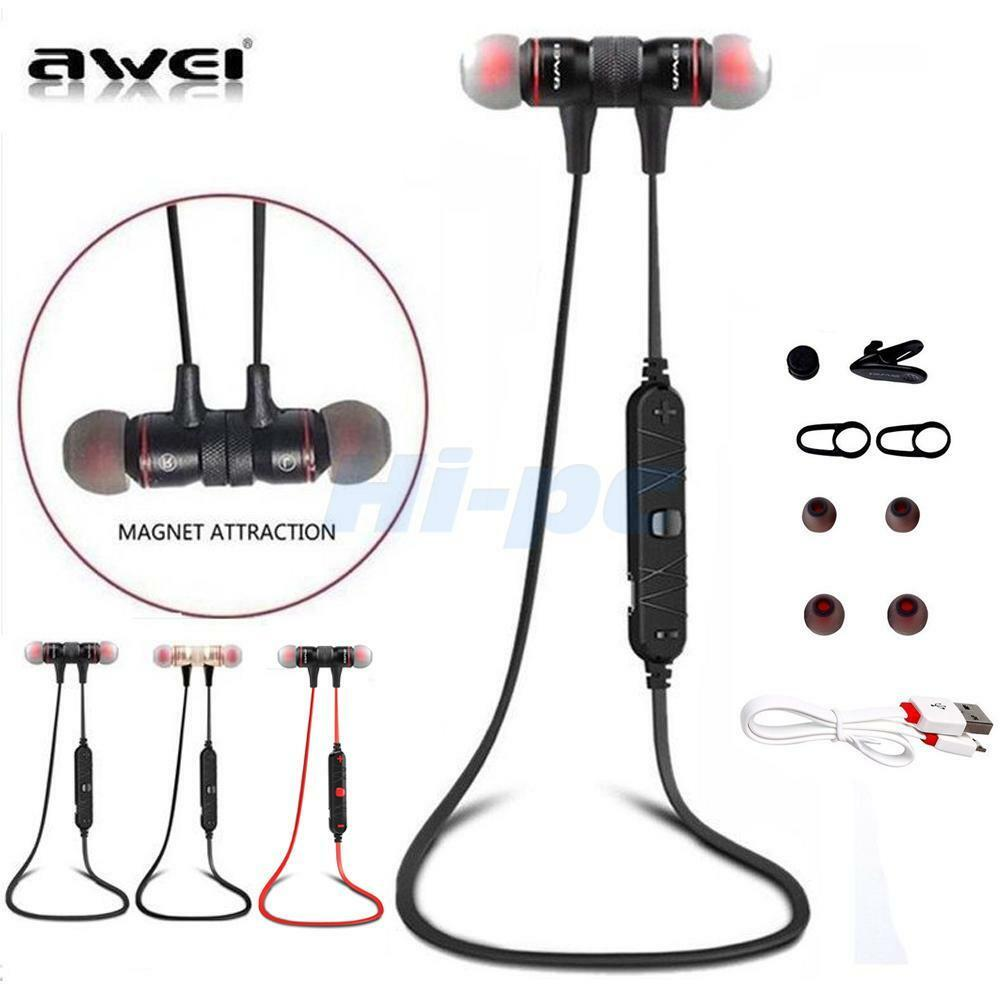 Bluetooth Headset K10 Wireless Earpiece Headphones With: Awei A920BL Wireless Bluetooth Headset Sport Headphone