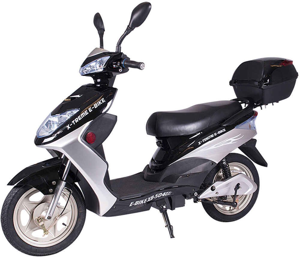 x treme xb 504 electric bicycle scooter moped 12 amp battery black new ebay. Black Bedroom Furniture Sets. Home Design Ideas