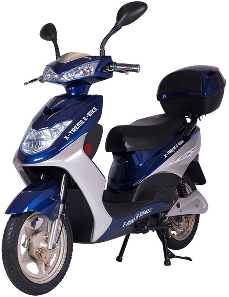 x treme xb 504 electric bicycle scooter moped 12 amp battery system blue new ebay. Black Bedroom Furniture Sets. Home Design Ideas