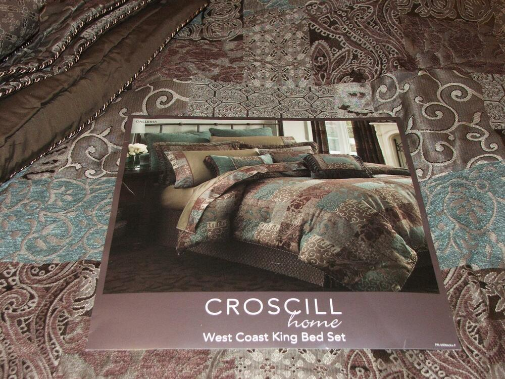 BRAND NEW CROSCILL BROWN GALLERIA WC KING SIZE 4 PIECE ...