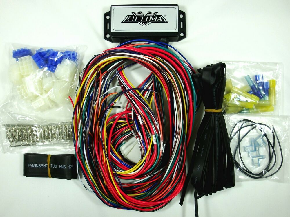 ultima plus electronic wiring harness system for harley. Black Bedroom Furniture Sets. Home Design Ideas