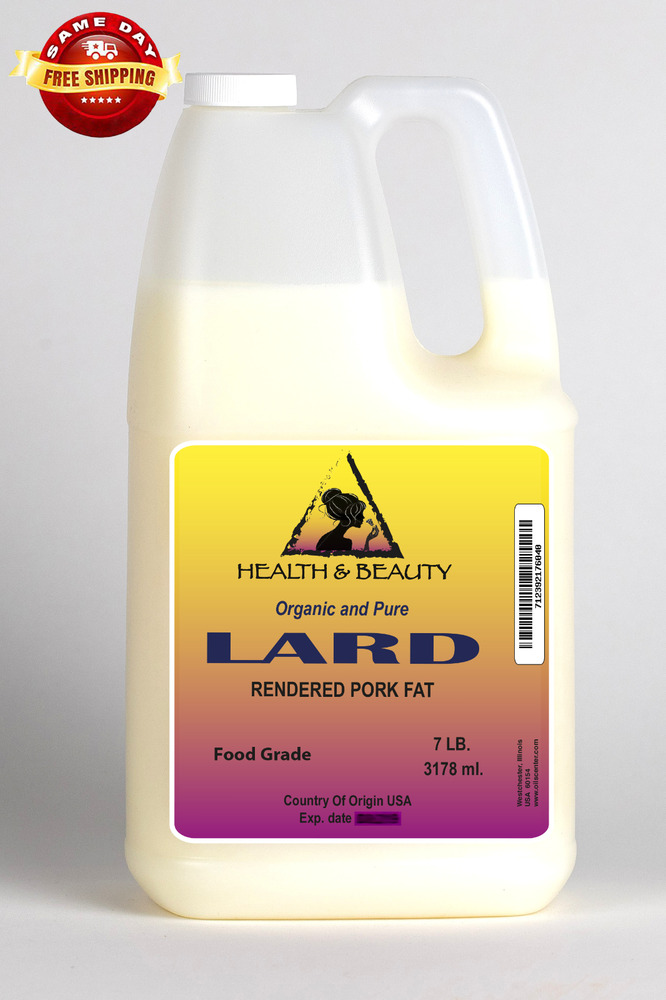 LARD ORGANIC FOODS RENDERED PORK FAT COOKING OIL ALL ...