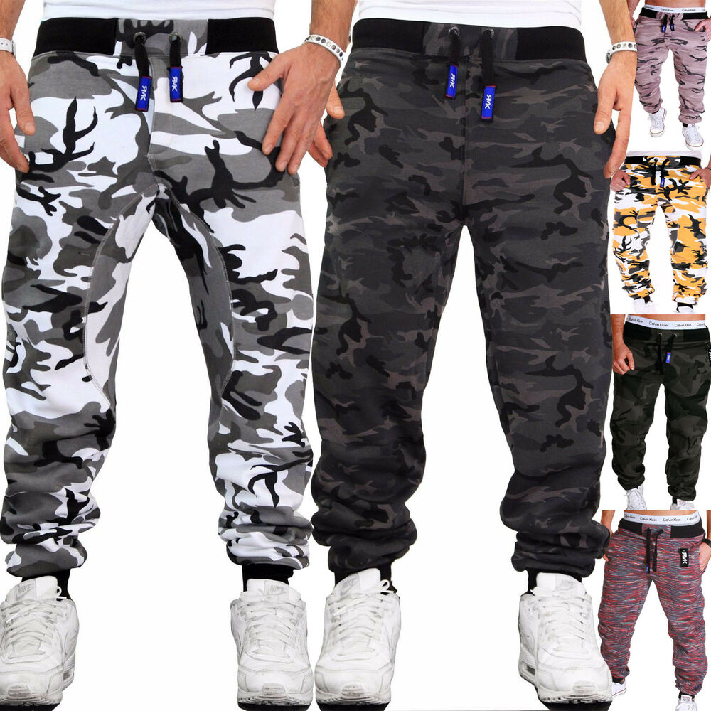 herren camouflage hose jogginghose sporthose fitness sport jogging damen army ebay. Black Bedroom Furniture Sets. Home Design Ideas