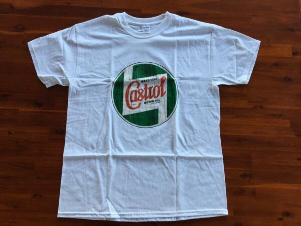 T-SHIRT HOMME TAILLE S COL ROND CASTROL WAKEFIELD MOTOR OIL ( Land-Rover)