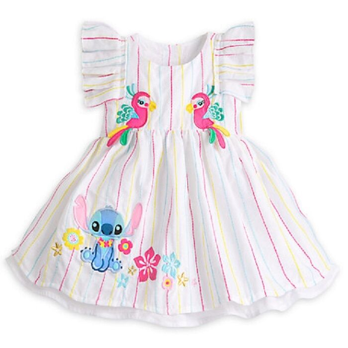 cdbe0f1c9 Details about DISNEY STORE SUPER SWEET STITCH WOVEN DRESS FOR BABY GIRL  MATCHING BLOOMERS NWT