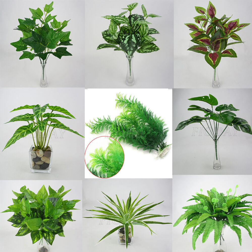 Artificial Leaves Plant Silk Flower Fake Foliage Plants