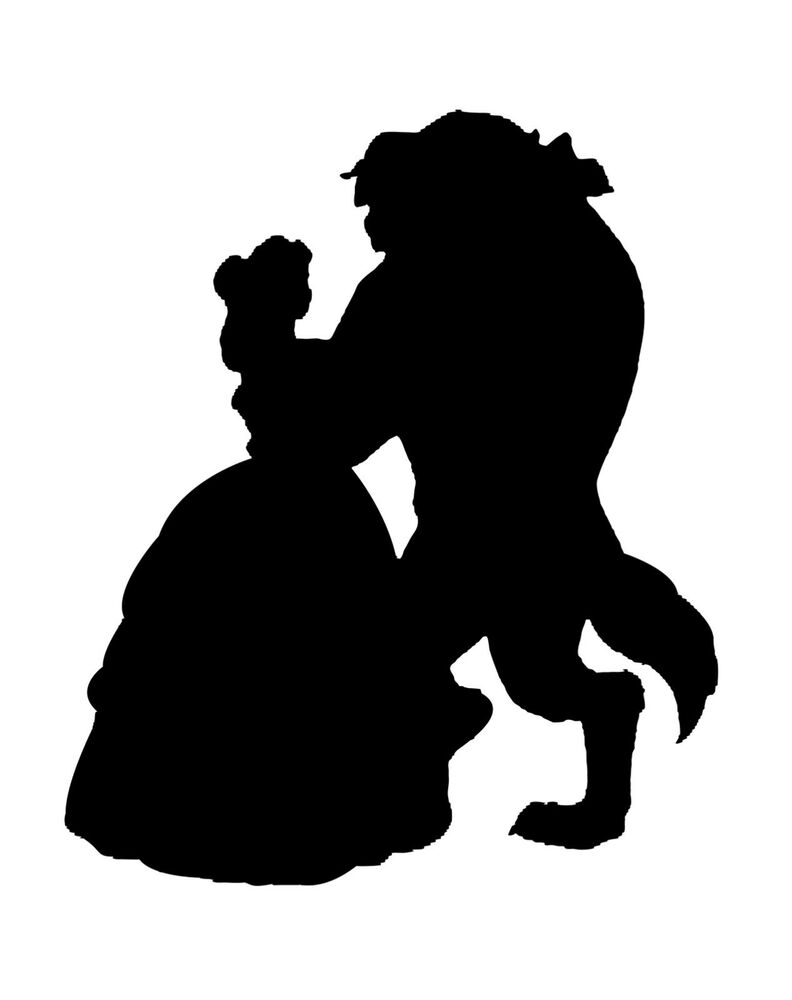 vinyl car decal run disney princess beauty beast belle dance silhouette sticker ebay