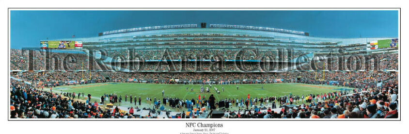 78d12906294 Details about Chicago Bears Win NFC Championship Soldier Field Unframed  Panoramic Poster 1057
